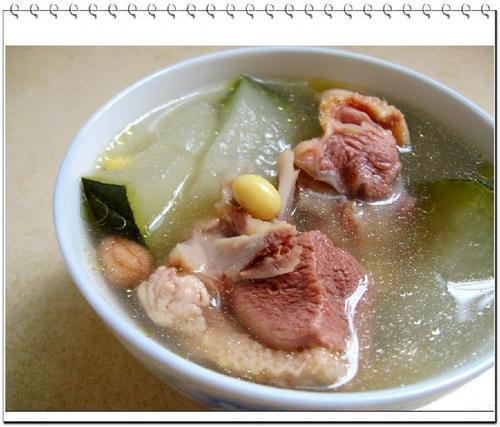 冬瓜煲老鸭汤的做法(荤菜)