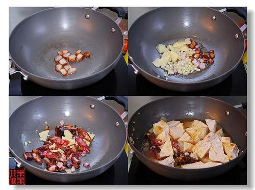 腊味芋头煲的做法(荤素搭配)