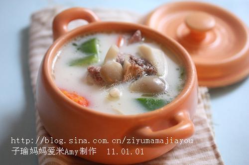 奶香筒骨煲的做法(冬日暖身汤--补钙佳品)