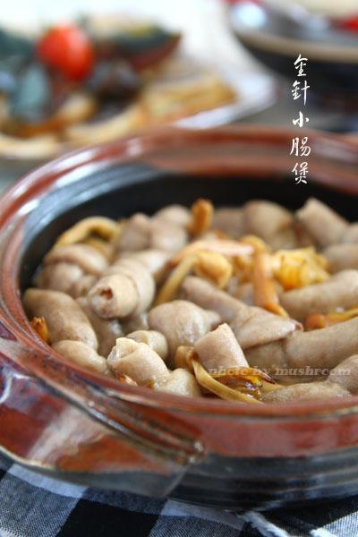 金针小肠煲的做法(荤菜-砂锅煲)