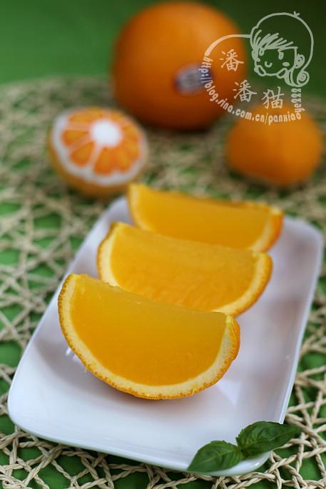 香橙果冻的做法(有趣又健康的消夏甜品)