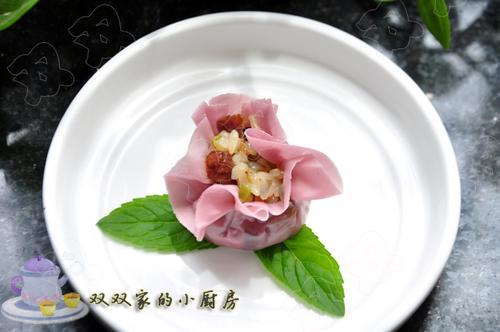 自制紫薯烧卖的做法(早餐菜谱)