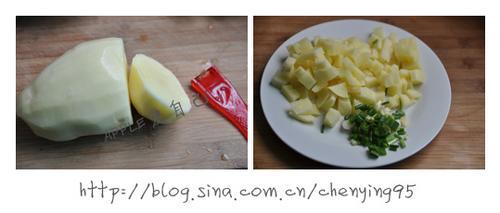 蛋包土豆饭的做法(爱心便当)