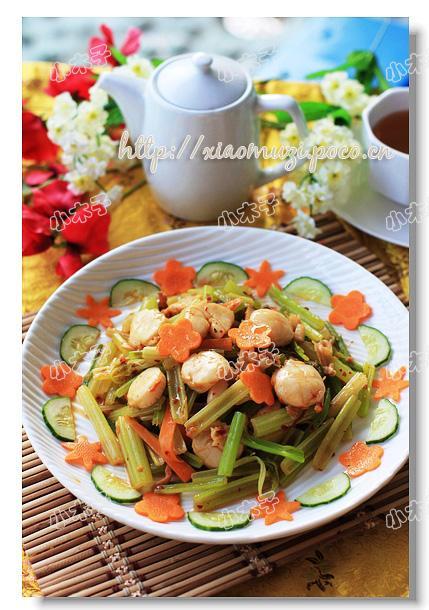 辣酱炒元贝的做法(海鲜家常菜)