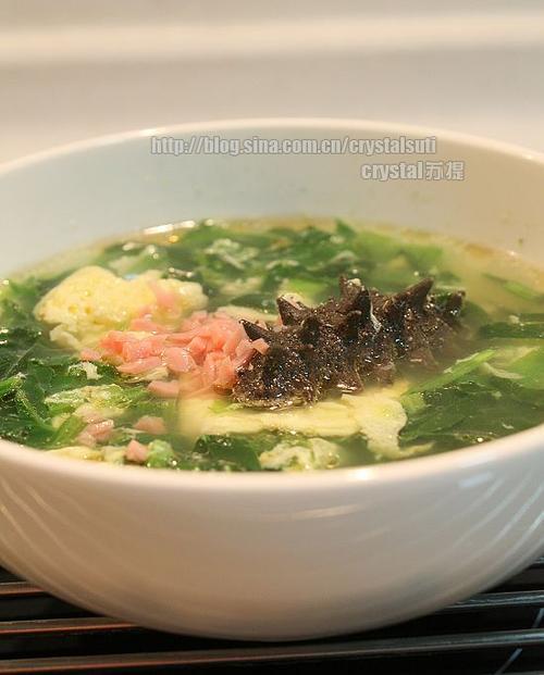 家常蔬菜海参汤的做法