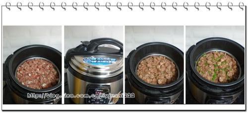 电压力锅香肠蒸糯米饭的做法