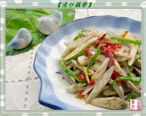 中菜 > 如何做,怎么做,清炒藕带的做法,详细步骤图解  1,掐掉藕带老根
