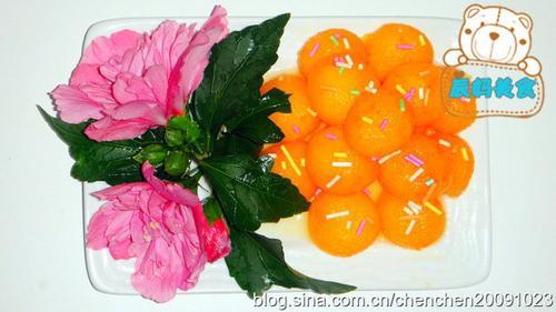 橙汁瓜球的做法,详细步骤