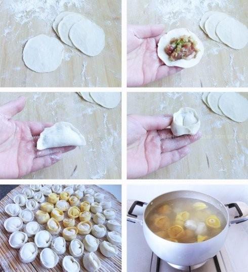 金银元宝水饺_如何做,怎么做金银元宝水饺的做法