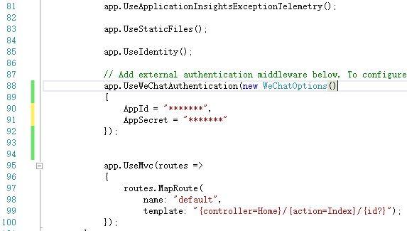 ASP.NET Core集成微信登录