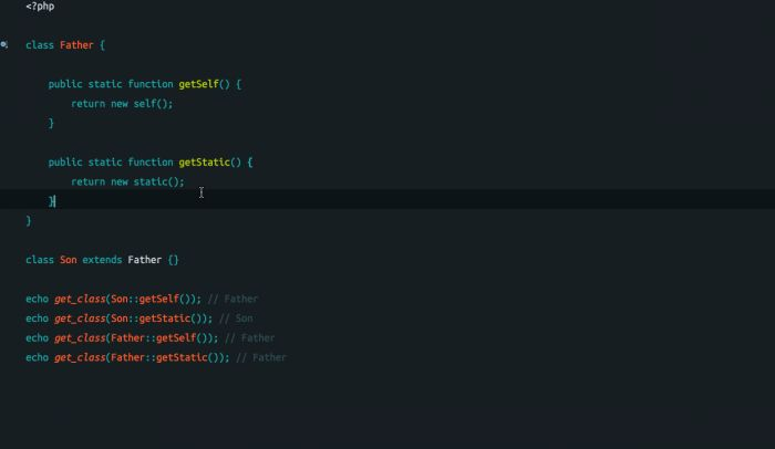 PHP new static 和 new self详解
